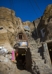 Carved Home In The Village Of Kandovan, Iran (Eric Lafforgue) Tags: city travel roof sky sculpture house mountain colour history tourism rock vertical architecture outdoors photography design town asia stair day village iran middleeast persia nobody nopeople carving valley environment weathered ukrainian troglodyte cultures arid pers eroded rockformation kandovan traveldestinations colorimage iraan  buildingexterior agingprocess nonurbanscene  persien islamicrepublicofiran  iro  builtstructure residentialstructure ir westernasia chandovan  humansettlement   frs      iran0310 belarusian iran