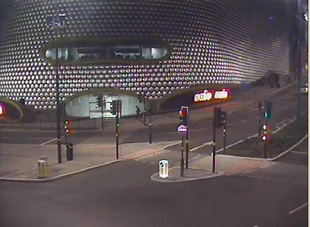 CCTV - Pavlo Lapshyn gets off the bus from Walsall and walks past the Bullring