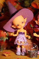 OOAK Pumpkin colored 'Halloween Twins' Fidelina (chartar_69) Tags: ooak ccc charlesstephan charlescreaturecabinet linmurasakidesign lindastephan