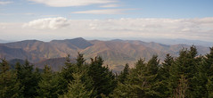 Mt Mitchell from Green Knob Lookout Tower