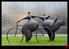 L'amour à bicyclette ! (mamnic47 - Over 10 millions views.Thks!) Tags: sculpture puteaux résine hautsdeseine img7556 ruestick jeanlouistoutain 19102013