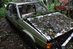 Talbot Tagora (Sam Tait) Tags: england classic cars rotting yard weeds sad rotten scrap salvage talbot tagora