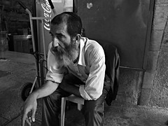 Gerusalemme 10 (farnitano.amos) Tags: street city portrait people blackandwhite bw man strada fuji gente jerusalem bn uomo ritratto biancoenero citt stphotographia