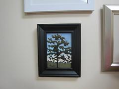 Daybreak framed (bbmowery) Tags: tree pine painting dawn acrylic glow workinprogress barbara backlit daybreak stepbystep mowery 2013