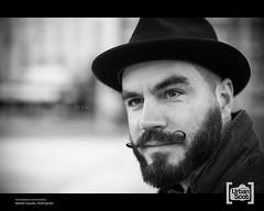 Jacek #294 (The Urban Scot) Tags: nottingham hat portait streetportrait naturallight polish moustache jacek strangerportrait primelens urbanportrait canon50mm12l portraitwithpermission