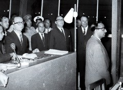 President Ayub inaugurating a center (Doc Kazi) Tags: pakistan heritage history television early days ptv