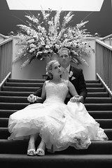 Mr & Mrs (Ranford Stealth) Tags: wedding bw mono groom bride blackwhite bridal fuji35mmf14 fujifilmxe1 fujixe1