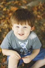 Trending (mel.bell) Tags: blue boy orange baby cute fall up leaves kid child looking blueeyes families adorable tie pale