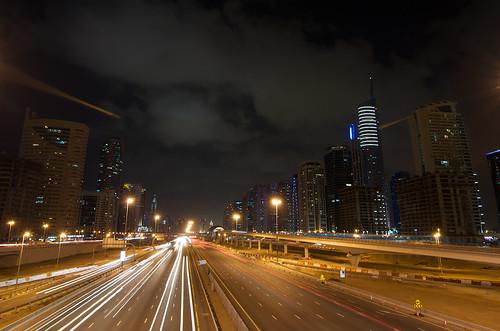 Light madness on Sheikh Zayed Road ©  Still ePsiLoN