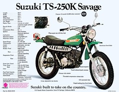 1973 Suzuki TS250K brochure (Rickster G) Tags: pictures road two classic vintage ads photo flyer cross offroad image photos antique album picture motorcycles stroke images off literature oldschool trail photographs photograph 400 tc motorcycle 70s 100 dirtbike suzuki collectible collectors sales brochure mx rare spec ts 250 twostroke enduro dealer motox 185 125 2stroke twinshock vjm motocrosser
