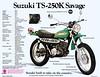1973 Suzuki TS250K brochure