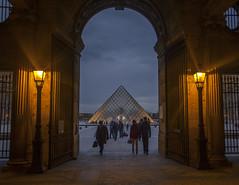 Pyramides (orbitech_gr) Tags: paris france museum night louvre pyramides