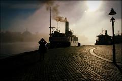 * (*Kicki*) Tags: smoke steam saltsjön stockholm sweden fog mist foggy dimma explore flickrexplore explored people skärgårdsbåt båt boat