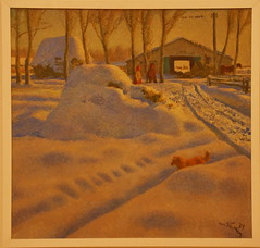 Tatyana Yablonskaya (1917-2005) Winter on a Farm, 1979, Oil on canvas (Sergei P. Zubkov) Tags: art museum stpetersburg december kunst canvas oil russian the 2013