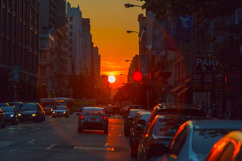 The Day After Manhattanhenge from 23rd Street