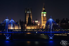 House of fun (Umbreen Hafeez) Tags: city uk bridge houses light england house building london clock architecture buildings dark big europe long exposure cityscape bell ben low parliament hungerford waterloo gb