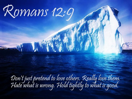 Romans 12:9 - Love must be sincere. Hate what is evil; cling