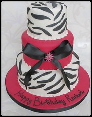 Pink & Leopard Tiered Birthday Cake (A Cherry On Top Scotland) Tags: birthday pink cake scotland fife brooch 18th birthdaycake leopardprint 18 burntisland tiered animalprint cherryontop clairesara