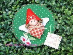 Duende de Natal (Artes de uma Larissa) Tags: natal feitomo feliznatal feltro duende im portarecados enfeitedenatal