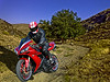 R1 rider in the mountains.