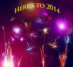 Here's to 2014 (janeway1973) Tags: photoshop fireworks happynewyear feuerwerk 2014 neujahrswnsche newyearwishes