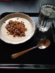 Frukost 1/1 (Atomeyes) Tags: mat granola vatten citron frukost msli