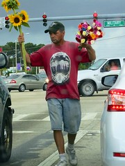 Cut flower man (LarryJay99 ) Tags: street roses sky urban hairy man male men guy socks traffic legs masculine manly guys westpalmbeach sneakers dude cc jeans cap sunflowers backpack dudes stud studs carwindow scruff stubble cutflower virile ilobsterit