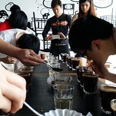 "And the cupping of 4 different regions of coffee started... and which scores 90+ among the 4? :-) #cupping #specialty #coffee #ninetyplus <a style=""margin-left:10px; font-size:0.8em;"" href=""http://www.flickr.com/photos/108467722@N02/11838636686/"" target=""_blank"">@flickr</a>"
