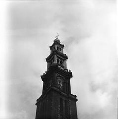 Western Church, Amsterdam (trewas) Tags: netherlands amsterdam hasselblad nikoncoolscan8000 westernchurch lomographyearlgrey