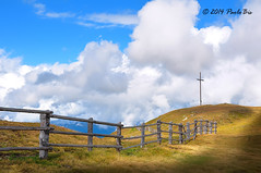 The cross on the hill _ 02 (PaoloBis) Tags: sky panorama mountain clouds relax landscape nikon holidays nuvole view cross walk faith hill religion august agosto cielo getty relaxation montagna fede ferie paesaggio vacanze excursion collina gettyimages croce antermoia d90 escursione passeggiare valbadia cieo relgione passodelleerbe paolobis sanmartinoinbadia montemulo