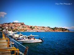 Kavala, Makedonia, Greece (Terezaki ✈) Tags: trip travel blue light summer vacation holiday seascape castle colors yellow clouds port skyscape landscape geotagged boats photography photo spring day cityscape searchthebest hellas roadtrip greece pictureperfect kavala 2014 naturesfinest location4 makedonia 100faves 150favs 50faves 100favs anawesomeshot flickrdiamond theperfectphotographer