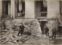 Excavating Bulfinch Front - 1881 (State Library of Massachusetts) Tags: boston architecture construction massachusettsstatehouse charlesbulfinch