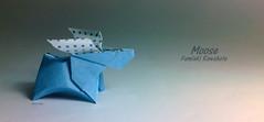 Moose (Laangen) Tags: berg paper origami moose simple rainer papier elch einfach kawahata fumiaki