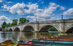 Richmond Bridge (C.A.Photogenics) Tags: uk bridge sky london water river boat rowing
