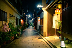 Kyoto Hanamachi () at Night in Gion () Kyoto () Japan (TOTORORO.RORO) Tags: sel24f18z sonnarte1824 sonnart1824 e carl zeiss sonnar kyoto street people activities spring lifestyle kamo river kamogawa walking biking dramatic riverbed cusine love       retro night nightlife kiyamachi  takasegawa  gion