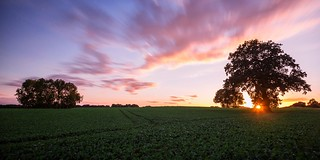 Sunset over northern Germany...