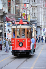 Catching a ride down Istiklal Street (Chris Brady 737) Tags: istanbuloctober2016 istiklal street istanbul tram taxsim square tunel