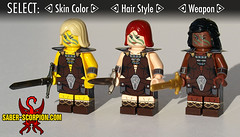 Character Customization Screen (Saber-Scorpion) Tags: lego minifig minifigures moc brickarms brickforge fantasy skyrim tesv tesvskyrim elderscrolls theelderscrolls theelderscrollsvskyrim barbarians adventure rpg
