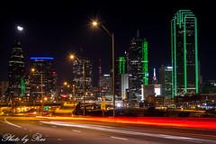 Dallas skyline montion (ruijuanwang2) Tags: dallas cityskyline skyline lights building bridge