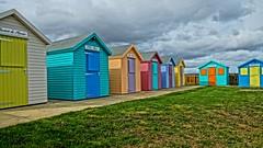 Beach Huts, Amble, Northumberland, England, UK, 9/2016 (SteveT0191) Tags: flickr beachhut colourful england uk northumberland amble