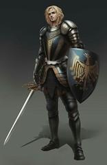 Human Paladin Knight - Pathfinder (mokd3d) Tags: 3d concept art male man masculine mokd
