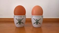 NZ Army Egg Cups (its-mrb) Tags: vitrified crownlynn eggcups nzdefenceforce nzarmy