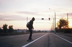 longboarding (vse.svetloe) Tags: longboarding film analog 35mm coloredfilm kodakportra160 sunset naturallight road riding boy stunning пленка vsesvetloe