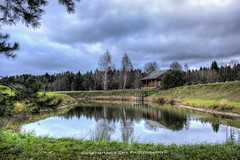 Sauna House (Constantinos.Cha) Tags: sauna house country grass lake lakescape landscape nikon lithuania clouds trees