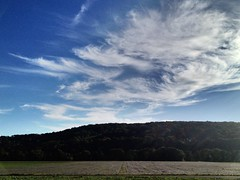 #skyshow (RenateEurope) Tags: cirrus clouds weatherphotography 2016 autumn iphoneography germany skyshow