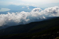 Mount Fuji Ring Cloud From Above (pokoroto) Tags: mount fuji ring cloud from above  fujisan yamanashi prefecture   japan 8   hachigatsu hazuki leafmonth 2016 28 summer august