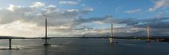 New Forth Road Bridge #1 (Claire Stones) Tags: october nikon newforthroadbridge cloud bluesky firthofforth clouds scotland forth