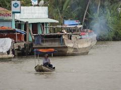 Escape the exhaust (program monkey) Tags: vietnam mekong river delta cargo boat ben tre tra vinh small exhaust