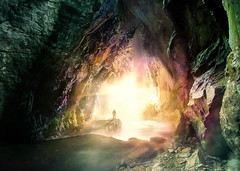 Layers (Photoportee) Tags: cave manipulation photoshop cc deep colorful light
