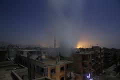 SYRIA-CONFLICT (camerajabber) Tags: middleeast civilwar revolt destruction ruins damage horizontal consquencesofwar generalview bombardment smoke night douma syria syr